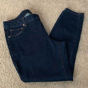 Like New! Dark-wash, Straight Stretch Jeans, Sz16W